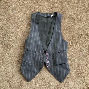 Grey pinstripe BDG vest